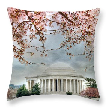 Jefferson Blossoms Throw Pillow by Lori Deiter