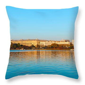 Jefferson Memorial And Washington Throw Pillow by Panoramic Images