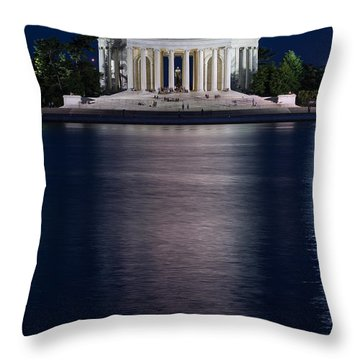 Jefferson Memorial Washington D C Throw Pillow by Steve Gadomski