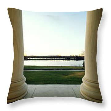 Jefferson Memorial Washington Dc Throw Pillow by Panoramic Images