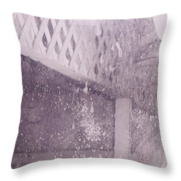 Jefferson Texas Ghost Eyes Throw Pillow by Donna Wilson