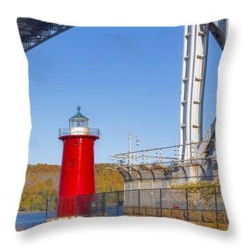 Jeffrey's Hook Lighthouse Iv Throw Pillow by Susan Candelario