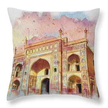 Jehangir Form Throw Pillow by Catf