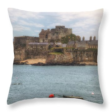 Jersey - Elizabeth Castle Throw Pillow by Joana Kruse
