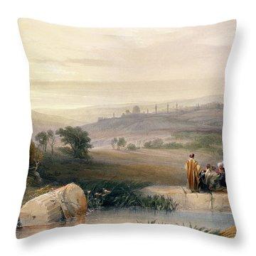 Jerusalem, April 1839 Throw Pillow by David Roberts