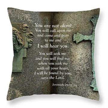 Jesus And Cross - Inspirational - Bible Scripture Throw Pillow by Kathy Fornal