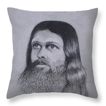 Jesus Looking To Heaven Throw Pillow by Kathy Weidner