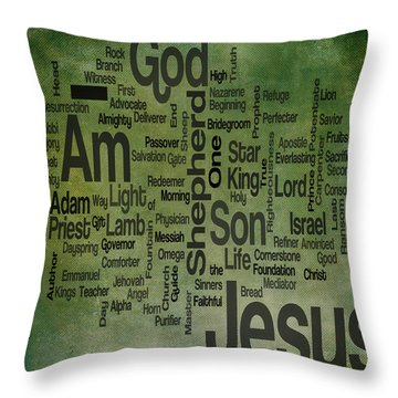 Jesus Name 1 Throw Pillow by Angelina Vick