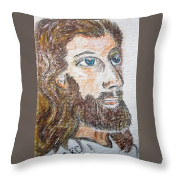 Jesus Our Saviour Throw Pillow by Kathy Marrs Chandler