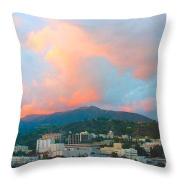 Jet Propulsion Laboratory Nasa - Pasadena California Throw Pillow by Ram Vasudev