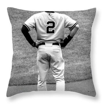 Jeter 2 Bw Edit Throw Pillow by Stephen Melcher