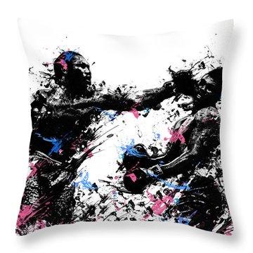 Joe Frazier Throw Pillow by Bekim Art