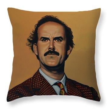 John Cleese Throw Pillow by Paul Meijering