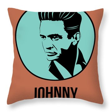 Johnny Poster 1 Throw Pillow by Naxart Studio