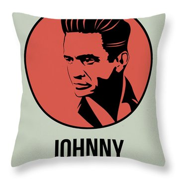 Johnny Poster 2 Throw Pillow by Naxart Studio