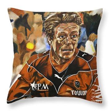 Jonny Wilkinson Throw Pillow by James Lavott