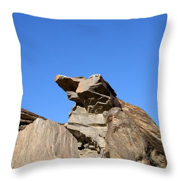 Joshua Tree Monster Rock Throw Pillow by Barbara Snyder