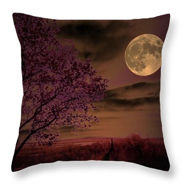 Joshua Tree Throw Pillow by Robert McCubbin