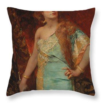 Judith Throw Pillow by Jean Joseph Benjamin Constant