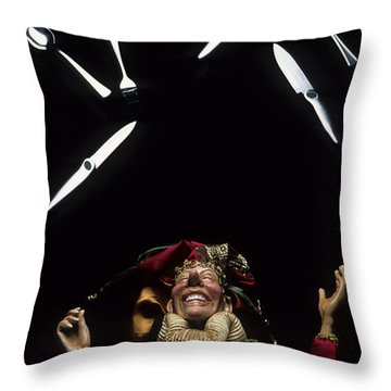 Juggling Fun Throw Pillow by Bob Christopher