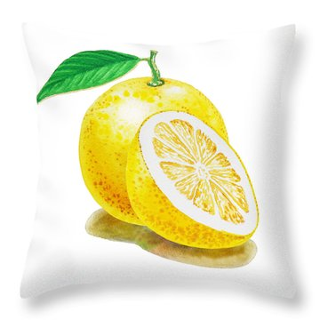 Juicy Grapefruit Throw Pillow by Irina Sztukowski