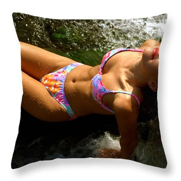 Julie Lay Waterfall Throw Pillow by Gary Gingrich Galleries
