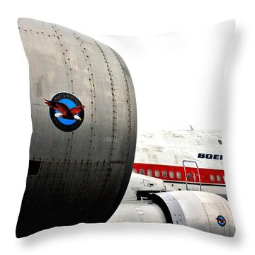 Jumbo Jet Throw Pillow by Benjamin Yeager
