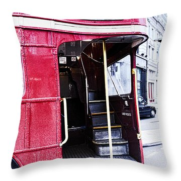 Jump On Board Throw Pillow by Jasna Buncic