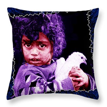 Just Another Dirty Face Throw Pillow by Seth Weaver