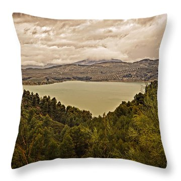Just Before The Storm - Ardales Throw Pillow by Mary Machare