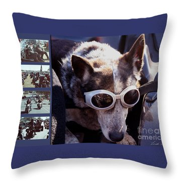 Just Call Me Dog Throw Pillow by Linda Lees