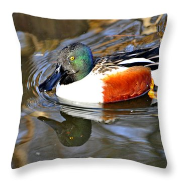 Just Ducky Throw Pillow by Marty Koch