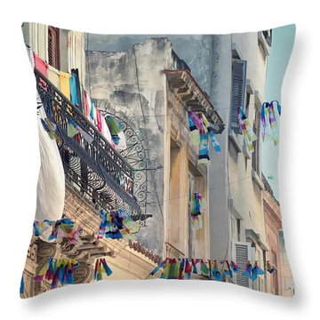 Just Like A Waving Flag.. Throw Pillow by A Rey