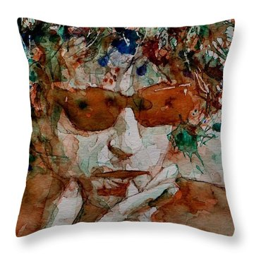 Just Like A Woman Throw Pillow by Paul Lovering
