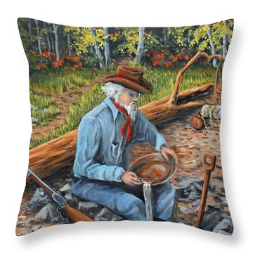 Just One More Pan Throw Pillow by Julie Townsend