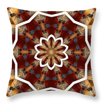 Kaleidoscope 29 Throw Pillow by Lena Photo Art