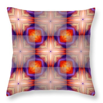 Kaleidoscope Combo 5 Throw Pillow by Louise Lamirande