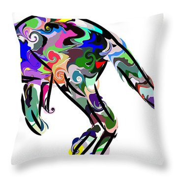 Kangaroo 2 Throw Pillow by Chris Butler