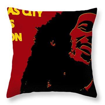 Kansas City Chiefs Ya Mon Throw Pillow by Joe Hamilton