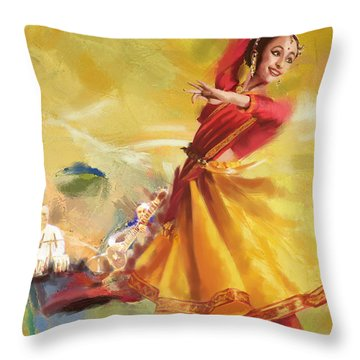 Kathak Dance Throw Pillow by Catf