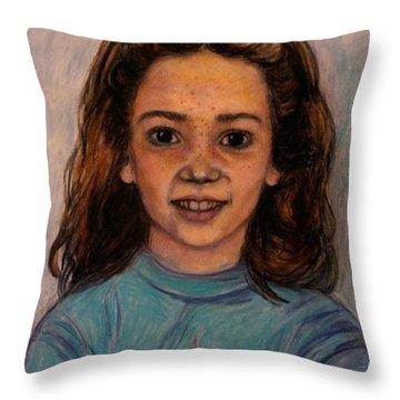 Kathleen Mahin Throw Pillow by Kendall Kessler