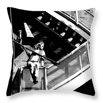 Katie-fire Escape Throw Pillow by Gary Gingrich Galleries