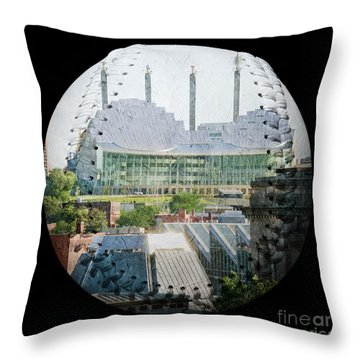 Kauffman Center For The Performing Arts Square Baseball Throw Pillow by Andee Design