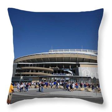 Kauffman Stadium - Kansas City Royals Throw Pillow by Frank Romeo