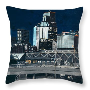 Kc At Dusk Throw Pillow by Patricio Lazen