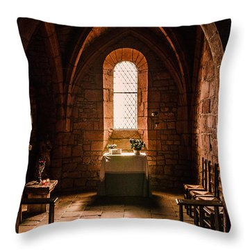 Throw Pillow featuring the photograph Keep The Faith by Thierry Bouriat