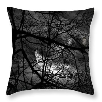 Keeper Of Spirits Throw Pillow by Lourry Legarde