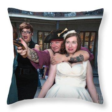 Keira's Destination Wedding - The Pirate Part Throw Pillow by Kathleen K Parker