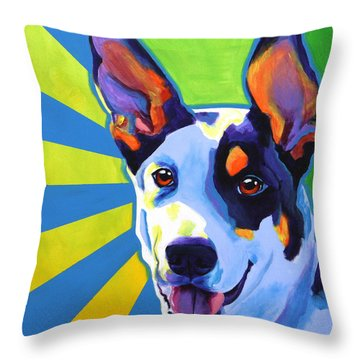Kelpie - Oakey Throw Pillow by Alicia VanNoy Call