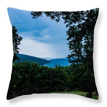 Keuka Lake From Esperanza Throw Pillow by Steve Clough